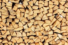 Fire wood for a fireplace Stock Photo