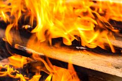 Fire, Wood, Flame, Campfire Stock Photography