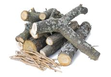 Fire wood logs Royalty Free Stock Image