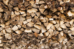 Fire wood and logs Royalty Free Stock Images