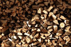 Fire Wood Logs Stack Pile of Firewood Heating Fuel Royalty Free Stock Image