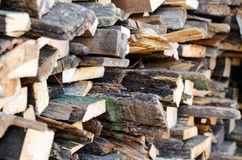 Fire wood outdoor Stock Photos