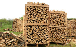 Fire wood pallets detail Royalty Free Stock Images