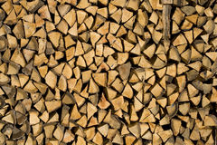 Fire Wood Pile. Texture with wooden pieces Royalty Free Stock Images