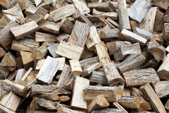 Fire wood pile close up Royalty Free Stock Photos