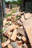 Fire wood pile Royalty Free Stock Photography