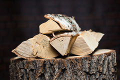 Fire wood Renewable resource of a energy Royalty Free Stock Images