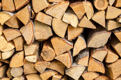 Fire wood stack Stock Photo