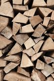 Fire wood stack Stock Photos