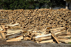 Fire wood. Stacks of fire wood prepared for the winter Royalty Free Stock Image