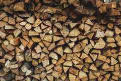 Fire wood stock for winter Royalty Free Stock Photo