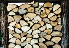 Fire wood stock for winter stock image