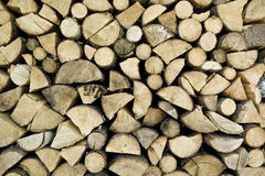 Fire wood storage Royalty Free Stock Photos
