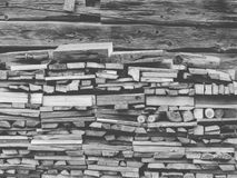 Fire Wood In Village stock photos