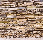 Fire Wood In Village royalty free stock images