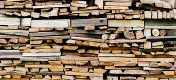 Fire Wood In Village stock images