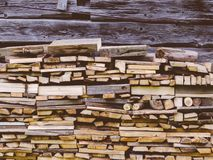 Fire Wood In Village royalty free stock photo