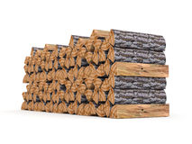 Fire wood. On white rendered Royalty Free Stock Image