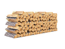 Fire wood. On white rendered Royalty Free Stock Photos