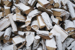 Fire wood at winter Royalty Free Stock Photos