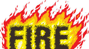 Fire word. Drawing the word fire, can be used for fire sales Royalty Free Stock Photos
