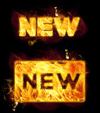 Fire Word New. The word new in burning flames Royalty Free Stock Photos
