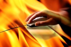 Fire at work Royalty Free Stock Image