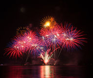 Fire Work. Festival, At Night Royalty Free Stock Photography