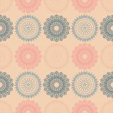 Fire work flowers symmetry seamless pattern. Suitable for screen, print and other media Royalty Free Stock Image