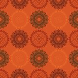 Fire work flowers symmetry seamless pattern. Suitable for screen, print and other media Stock Image