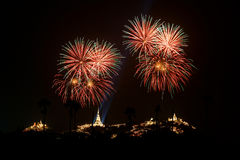 Fire work Khao Wang Royalty Free Stock Images