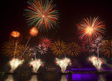Fire works. At the night of Spring Festival(china,Guangzhou Royalty Free Stock Photos
