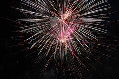 Fire Works. The Fire Works Display At Night Stock Photography