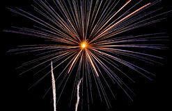 Fire Works. The Fire Works Display At Night Stock Image