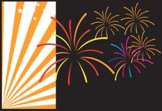 Fire works royalty free illustration