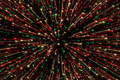 Fire works. Firework sparks distorted in dark Royalty Free Stock Photos