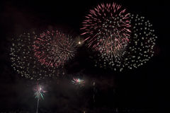 Fire works art. Fireworks during the fair of Hoorn, Netherlands Stock Images