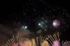 Fire works art. Fireworks during the fair of Hoorn, Netherlands Royalty Free Stock Image