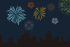 Free Fire Works Background Royalty Free Stock Photo - 124918435