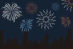 Free Fire Works Background Royalty Free Stock Photo - 124918475