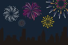 Free Fire Works Background Royalty Free Stock Photography - 124918627