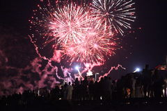 Fire works. Boston fire works july the 4th Royalty Free Stock Photos