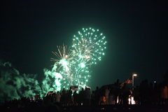 Fire works. Boston fire works july the 4th Stock Photography