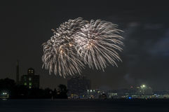 Fire works display Royalty Free Stock Photos