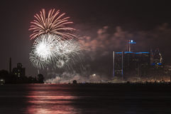 Fire works display Royalty Free Stock Images