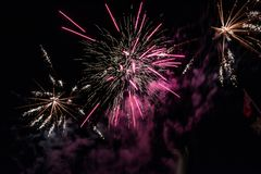 Fire Works During Feast royalty free stock photography