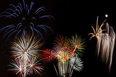 Fire works finale Stock Photo