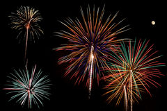 Fire works finale Stock Photos