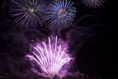 Fire works. Fireworks during the fair of Hoorn, Netherlands Royalty Free Stock Image