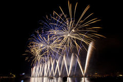 Fire works over Venice Royalty Free Stock Image